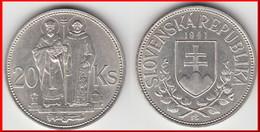 **** SLOVAQUIE - SLOVAKIA - 20 KORUN 1941 ST KYRILL AND ST METHODIUS - ARGENT - SILVER **** EN ACHAT IMMEDIAT !!! - Slovaquie