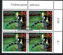 BLOC DE 4 TIMBRES OBLITERES 1er /J 2003 C/DES TIMBRES SUISSES Nr:1083. Y&TELLIER Nr:1754. MICHEL Nr:1827.