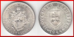 **** SLOVAQUIE - SLOVAKIA - 10 KORUN 1944 PRIBINA 861 KNIEZA SLOVENSKA - ARGENT - SILVER **** EN ACHAT IMMEDIAT !!! - Slovaquie