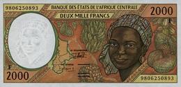 East African States - Afrique Centrale Centrafrique 1998 Billet 2000 Francs Pick 303 E Neuf 1er Choix UNC - República Centroafricana