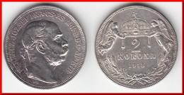 **** HONGRIE - HUNGARY - 2 KORONA 1913 FRANZ JOSEPH I - ARGENT - SILVER **** EN ACHAT IMMEDIAT !!! - Hungary