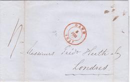 Lettre Belgique 1847, Scan R/V. - 1830-1849 (Belgique Indépendante)