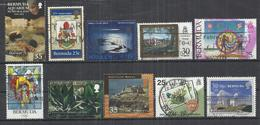 TEN AT A TIME - BERMUDA - LOT OF 10 DIFFERENT 3 - OBLITERE USED GESTEMPELT USADO - Bermudas