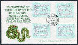 1989 Hong Kong FRAMA ATM Year Of The Snake FDC. First Day Cover - Hong Kong (...-1997)