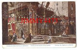 CPA POST CARD - Bethléhem Pälestina Intérieur De L'Eglise De La Nativité En 1923 - Edit.C. A. Série 782 N°41 Recto-Verso