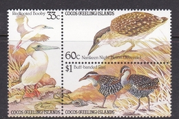 Cocos (Keeling) Islands SG 132-134 1985 Birds MNH Set - Cocos (Keeling) Islands