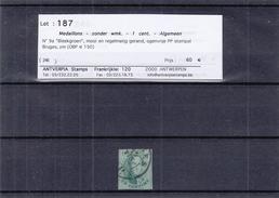 Belgique - COB 9a Oblitéré - Oblit Bruges P.P. - 4 Marges - Très Beau - Valeur 150 €