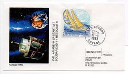 - FRANCE - FDC KOUROU 19.11.1993 - V 61 : ARIANE 44 LP-START MIT SOLIDARIDAD 1 + METEOSAT 6 -