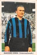 """D5908 """"ENEA MASIERO - INTERNAZIONALE """"  FIGURINA ORIGINALE CARTONATA DELLA S.T.E.F. - TORINO / 1963 - 1964 - Trading Cards"""