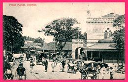 Colombo - Pettah Market - Pousse Pousse - Animée - PLÂTÉ & Co - Sri Lanka (Ceylon)