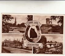 Leicester, Cartolina Non Viaggiata. Good Luck From Leicester. - Leicester