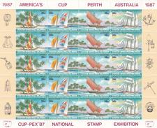 Cocos (Keeling) Islands SG 161S 1987 Cup-Pex 87 National Stamp Exhibition Sheetlet MNH - Cocos (Keeling) Islands
