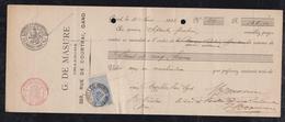 Belgium 1898 Money Order Corner 25c  BRUXELLES To GAND