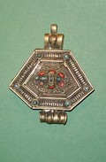 TIBET Reliquaire Pendentif Talisman