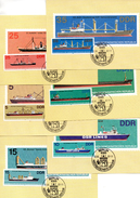 """(M) DDR 6 Halbamtl. Maximumkarten Mi-Nr. 2709/14 ESSt. BERLIN  22.6.82 """"Hochseeschiffe Der DDR"""""""