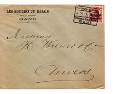 Guerre-Oorlog 14-18 TP Oc 3 Moulins Du Bassin Gand C.Post..04/0119? Etappen..Gent V.Anvers PR4640 - [OC26/37] Staging Zone