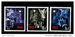 MALTA - 1970  CHRISTMAS  SET MINT NH - Malta