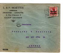 Guerre-Oorlog 14-18 TP Oc 3 L&P Mortier Gand  C.Post..16/? Etappen..Gent V.Anvers PR4642 - [OC26/37] Staging Zone