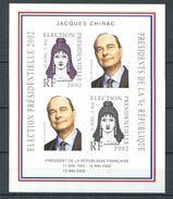 201 - Vignette 2002 - Election Presidentielle Non Dentele - Jacques Chirac - Neuf ** (MNH) Sans Charniere