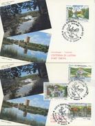 ITALIA - FDC MAXIMUM CARD 1995 - GIARDINI STORICI - ANNULLO SPECIALE CISTERNA DI LATINA - Cartoline Maximum