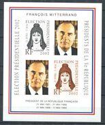 201 - Vignette 2002 - Vignette Election Presidentielle Non Dentele - Francois Mitterand - Neuf ** (MNH) Sans Charniere