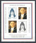 201 - Vignette 2002 - Election Presidentielle Non Dentele - Charles De Gaulle - Neuf ** (MNH) Sans Charniere