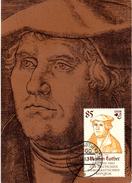 """(M) DDR Amtl. Maximumkarte Mi-Nr. 2757 ESSt. Wittenberg Lutherstadt 9.11.82 """"Martin Luther"""""""