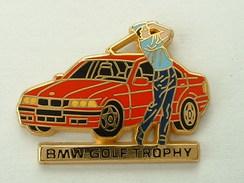 PIN´S BMW ROUGE - GOLF TROPHY -  ARTHUS BERTRAND - BMW