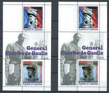 201 CAMEROUN - Vignette Charles De Gaulle - Surchage Argent Et Or - 2 Feuillets - Neuf ** (MNH) Sans Trace De Charniere