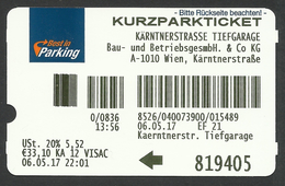 Vienna, Austria, Parking Receipt. - Tickets - Vouchers