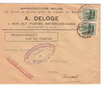 Guerre-Oorlog 14-18 TP Oc 11(2) Papier D'affaire A.Deloge Travail Du Bois BXL C.Brüssel 1917 Censure V.Anvers PR4646 - [OC26/37] Staging Zone
