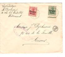 Guerre-Oorlog 14-18 TP Oc 12-14 S/L.càp Brüssel 1916 Censure V.Anvers PR4647 - [OC26/37] Staging Zone