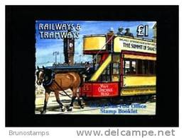 ISLE OF MAN - 1992  £. 1  BOOKLET  RAILWAYS & TRAMWAYS  MINT NH - Isola Di Man