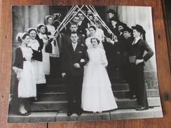 Ancienne Photo Originale Bretagne Finistère Chateaulin Sonneurs Costumes Coiffes - Personnes Anonymes
