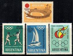XP2207 - ARGENTINA , La Serie Emessa Nel 1964  ***  MNH . OLIMPIADI TOKYO