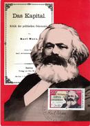 """(M) DDR Amtl. Maximumkarte Mi-Nr. 2786 ESSt. BERLIN 11.4.83 """"Karl Marx - Das Kapital"""""""
