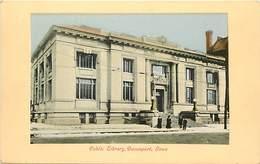 Pays Div-ref H701- Etats Unis D Amerique -usa - Public Library -davenport - Iowa - Carte Bon Etat  - - Davenport