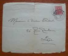 Cover - Letter - Frente De Sobre - Fragmento 1919 - Bélgica