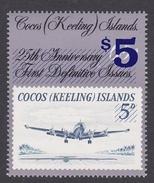 Cocos (Keeling) Islands SG 230 1990 Aircraft Overprinted MNH - Cocos (Keeling) Islands