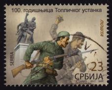 Toplica Uprising - Serbia 1917 WW1 WWI - 100th Anniv. - 2017 Serbia - Used - Rifle Gun Soldier / Bulgaria Occupation