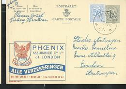 Publibel Obl. N° 1653  ( PHOENIX Assurance Of London) Obl. Herderen 01/12/1959 - Stamped Stationery