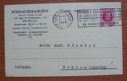 Cover - Letter - Tarjeta Postal Enviada A Suiza 1929 - Belgium