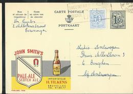 Publibel Obl. N° 1638  ( Bière-bier; John Smith's) Obl. Bxl 1959 - Entiers Postaux