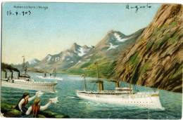 NORGE  NORWAY  NORVEGIA   HOHENZOLLERN   Illustrated  Max Muller  1903 Annullo Rieti Perugia - Norvegia