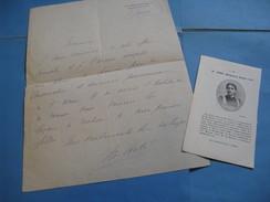 LETTRE AUTOGRAPHE SIGNEE DE MARGUERITE STOKVIS DITE ARBEL 1900 COMEDIENNE ODEON GYMNASE DICTION  à PAUL DECOUD - Autographes