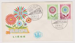 Enveloppe Cover Brief FDC 1er Jour Europa 1298 1299 Fleur Liège