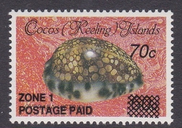 Cocos (Keeling) Islands SG 237 1990 Surcharged $ 0.70 On 60c Mint Never Hinged - Cocos (Keeling) Islands