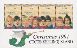 Cocos (Keeling) Islands SG 251 MS 1991 Christmas Miniature Sheet MNH - Cocos (Keeling) Islands