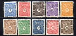 Col 4/ Cote Des Somalis Taxe  N° 11 à 20 Neuf X MH   Cote 10,00€ - Oblitérés