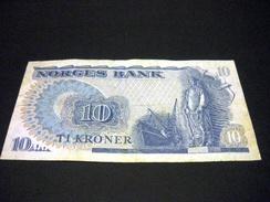 NORVEGE 10 Kroner 1979 , Pick N° 36 C , NORWAY - Noruega